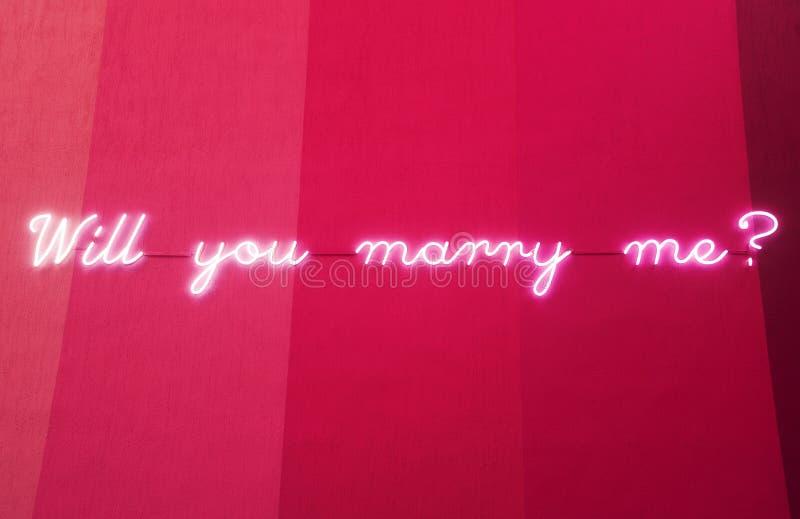 Mi sposerete per firmare la porcellana fotografie stock libere da diritti