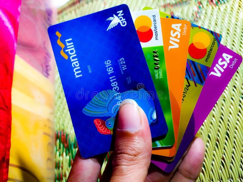 Mi tarjeta de banco indonesia fotografía de archivo libre de regalías