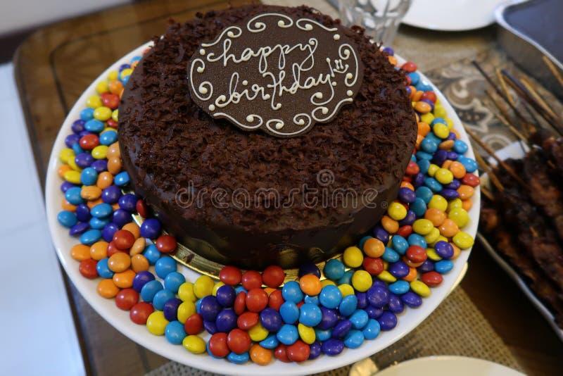 Mi torta de cumpleaños fotos de archivo libres de regalías