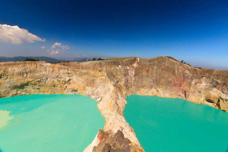 Mi vue de jour Gunung Kelimutu sur Flores, Indonésie photo libre de droits