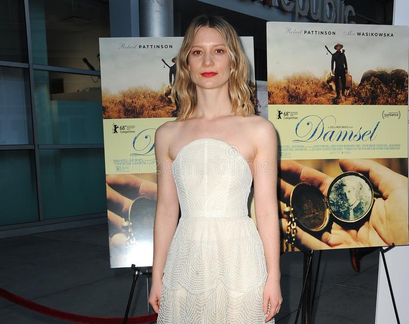 Mia Wasikowska. At the Magnolia Pictures` premiere of `Damsel` held at the ArcLight Hollywood in Hollywood, USA on June 13, 2018 royalty free stock image