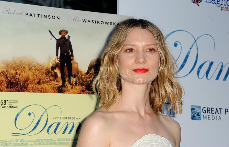 Mia Wasikowska. At the Magnolia Pictures` premiere of `Damsel` held at the ArcLight Hollywood in Hollywood, USA on June 13, 2018 royalty free stock photo