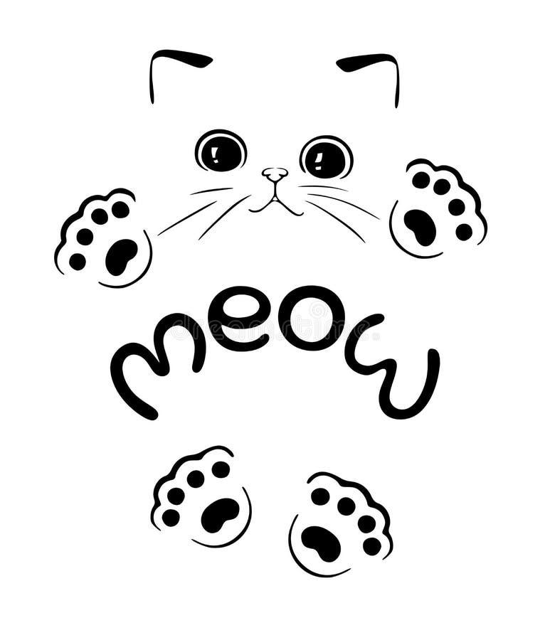 Miagolio del gattino del ute del ¡ di Ð illustrazione vettoriale