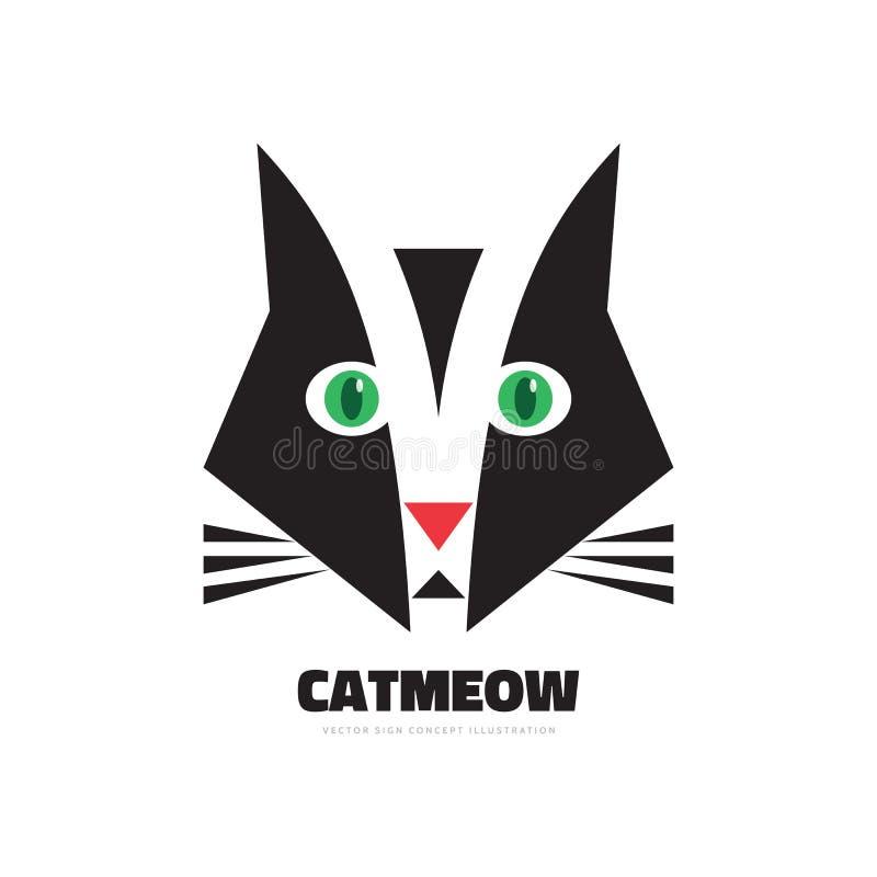 Download Miagolio Del Gatto   Illustrazione Di Concetto Di Logo Di Vettore  Segno Grafico Creativo Elemento