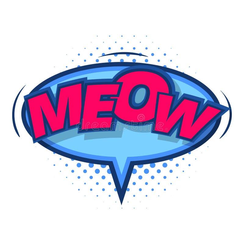 Miagolio, icona comica del fumetto, stile di Pop art illustrazione vettoriale