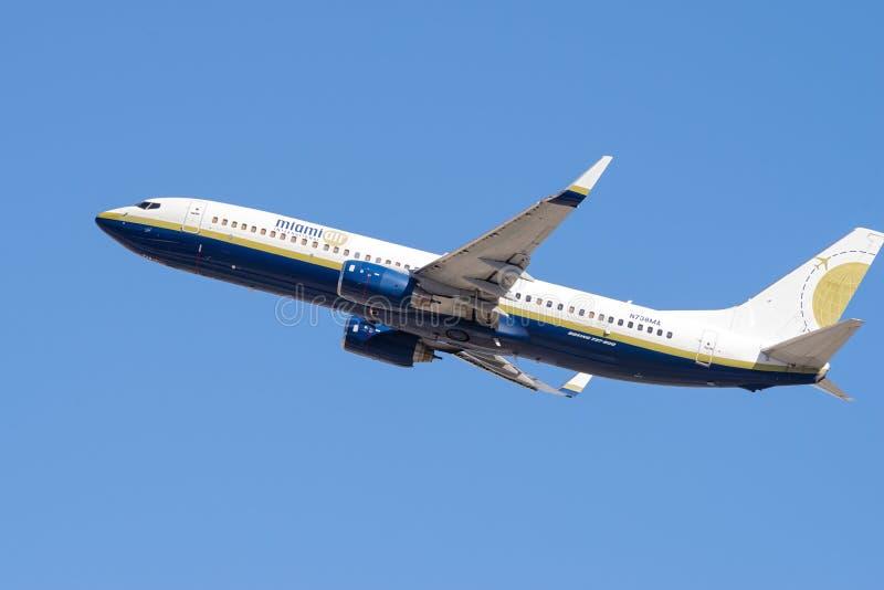 Miami Air International Boeing 737-800 fotografia stock libera da diritti