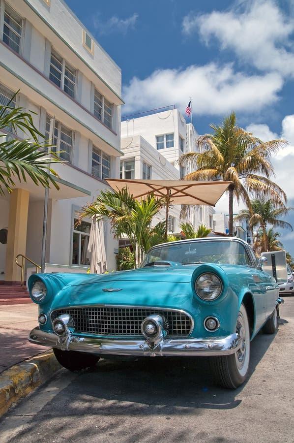 Miami-altes Auto lizenzfreie stockfotos