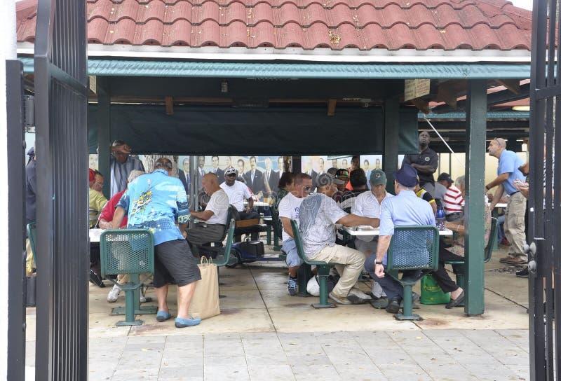 Miami,august 9th: Little Havana Community Domino Park from Miami in Florida USA stock image