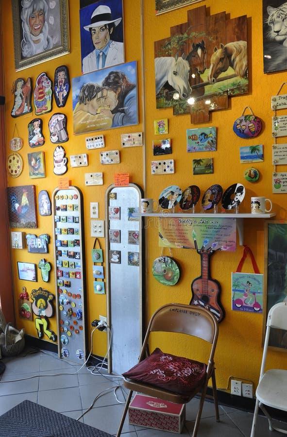 Miami,august 9th: Little Havana Community Souvenis Shop from Miami in Florida USA stock photo