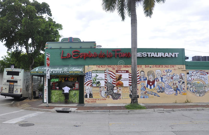 Miami,august 9th: Little Havana Community Street Arts from Miami in Florida USA stock image