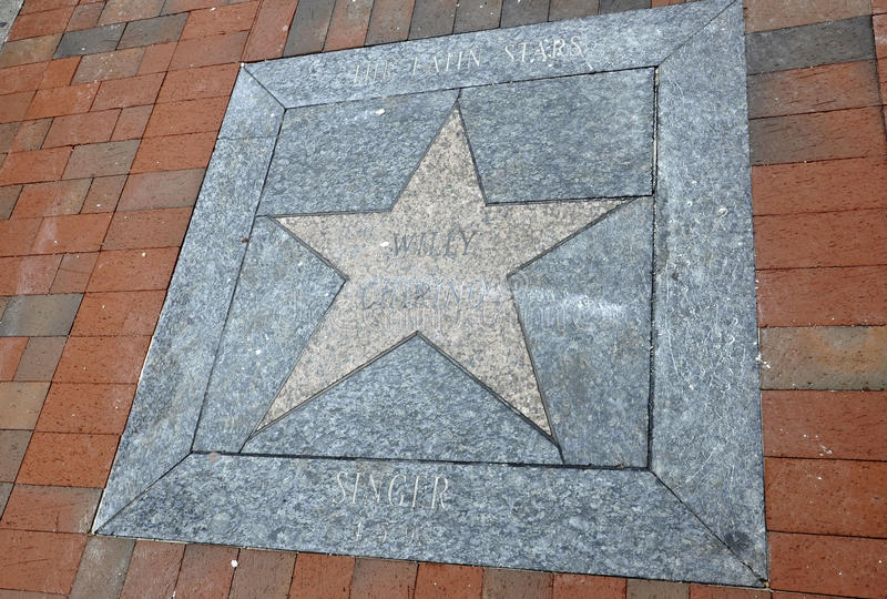 Miami,august 9th: Little Havana Community Walk of Fame from Miami in Florida USA stock images