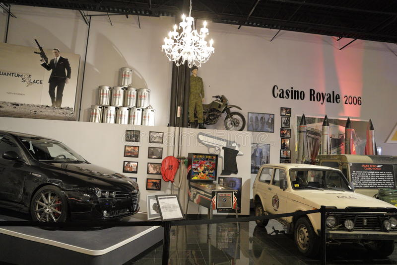 Miami Auto Museum at the Dezer Collection of automobiles and related memorabilia. MIAMI, FL, USA - APRIL 28, 2017: Stock photo of the Miami Auto Museum at the royalty free stock image