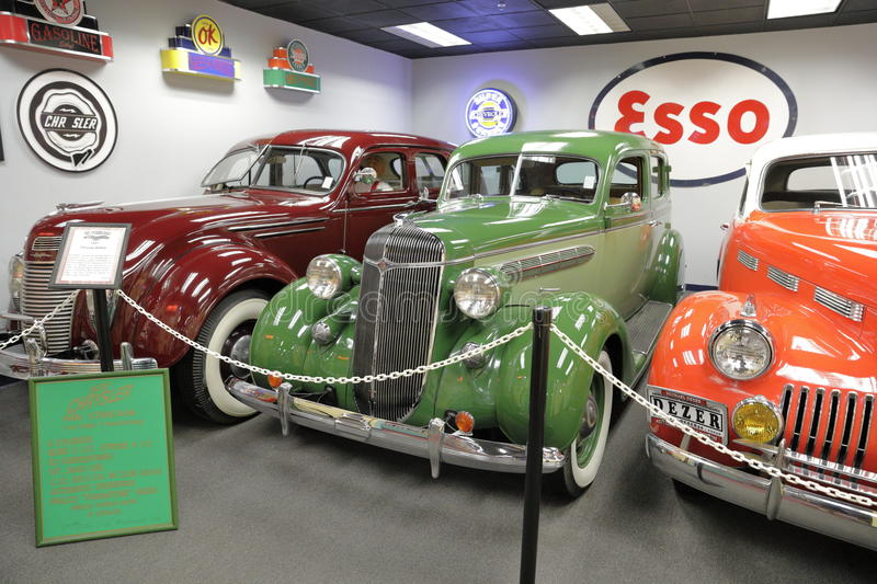 Miami Auto Museum at the Dezer Collection of automobiles and related memorabilia. MIAMI, FL, USA - APRIL 28, 2017: Stock photo of the Miami Auto Museum at the royalty free stock photos