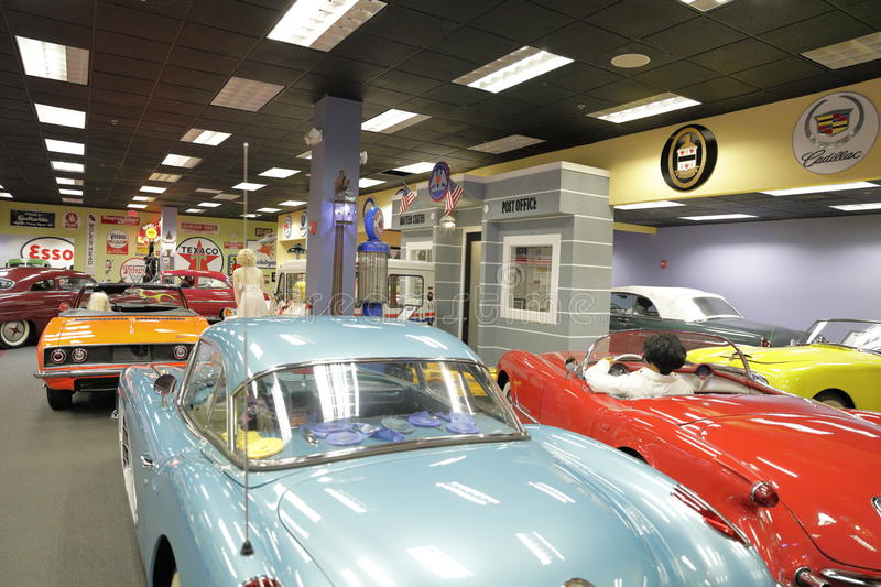 Miami Auto Museum at the Dezer Collection of automobiles and related memorabilia. MIAMI, FL, USA - MAY 3, 2017: Stock photo of the Miami Auto Museum at the Dezer royalty free stock images
