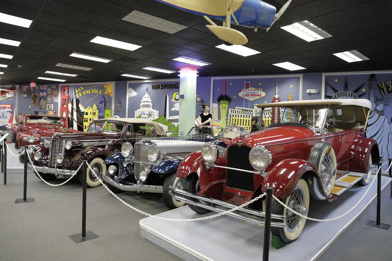 Miami Auto Museum at the Dezer Collection of automobiles and related memorabilia. MIAMI, FL, USA - MAY 3, 2017: Stock photo of the Miami Auto Museum at the Dezer royalty free stock image