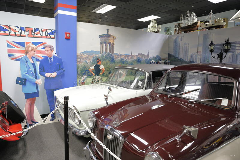 Miami Auto Museum at the Dezer Collection of automobiles and related memorabilia. MIAMI, FL, USA - MAY 3, 2017: Stock photo of the Miami Auto Museum at the Dezer stock photos