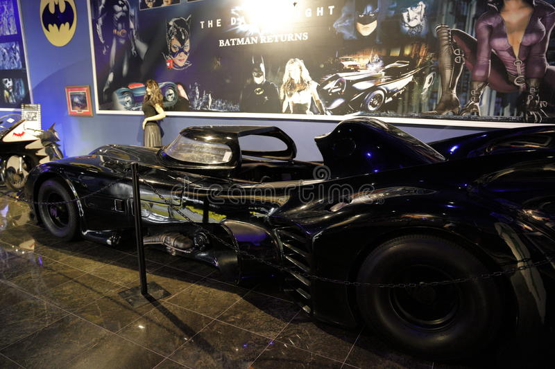 Miami Auto Museum Dezer Collection Batmobile room. MIAMI, FL,USA - MAY 10, 2017: Miami Auto Museum at the Dezer Collection of automobiles and related memorabilia stock photos