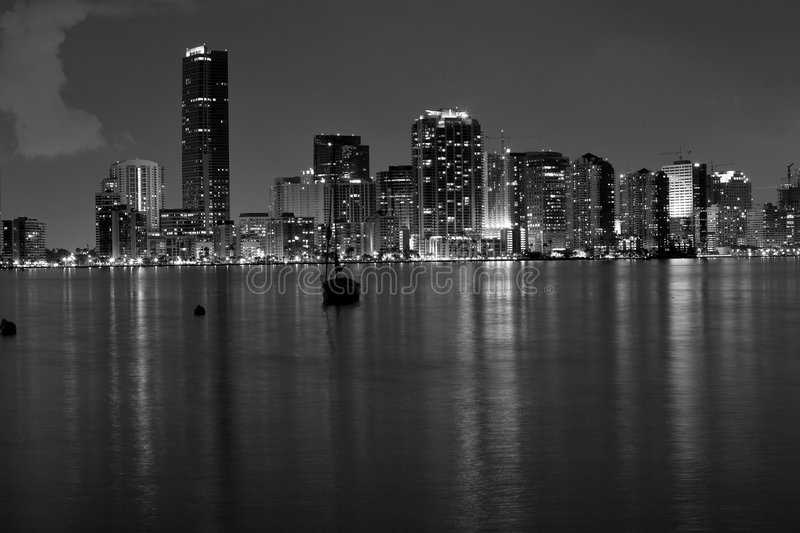 Miami B&W stock image