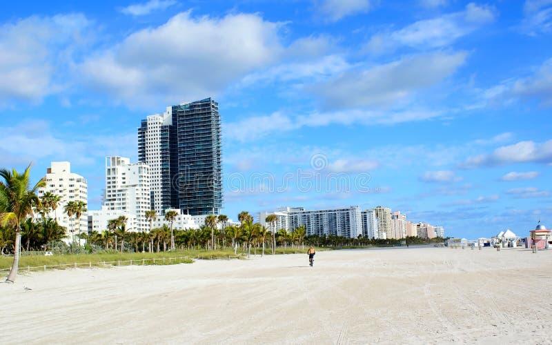 Miami beach. Beautiful view of miami beach sunny day stock photography