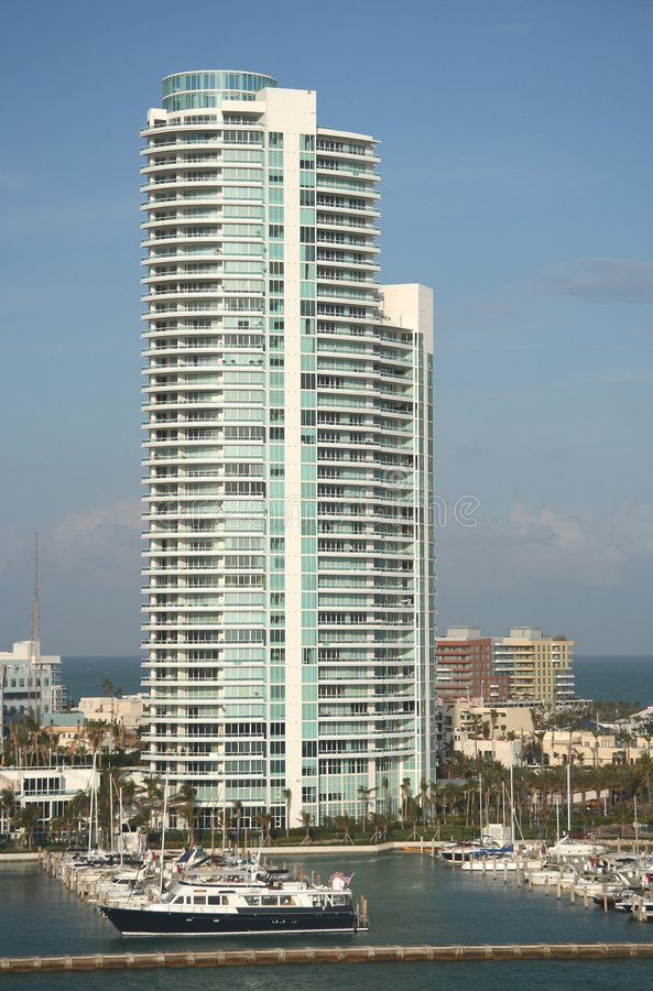 Miami Beach Building royalty free stock image
