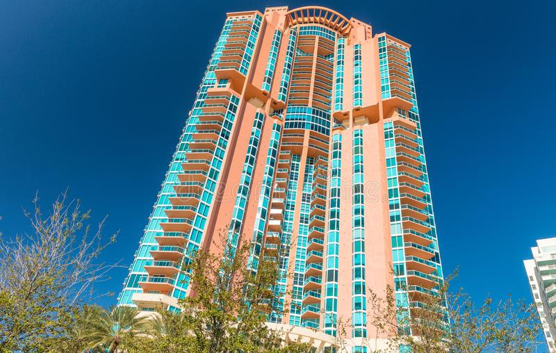 Miami Beach buildings on a beautiful day royalty free stock image
