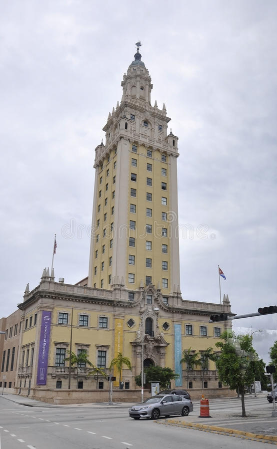 Miami Beach FL,August 09th:Art Museum Building from Miami Beach in Florida stock photos