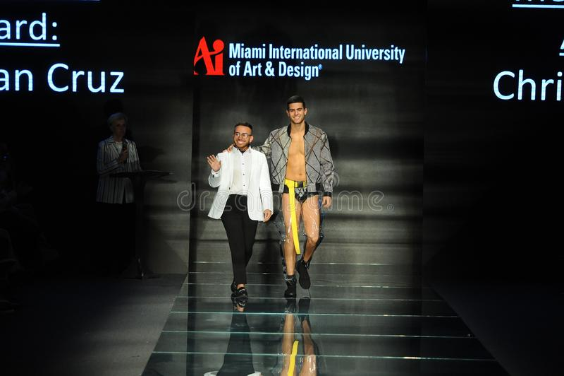 Christian Cruz Walks The Runway During Fashion Show Presented By Designers Of Miami International University Of Art And Design Editorial Stock Image Image Of Swimweek International 124061524