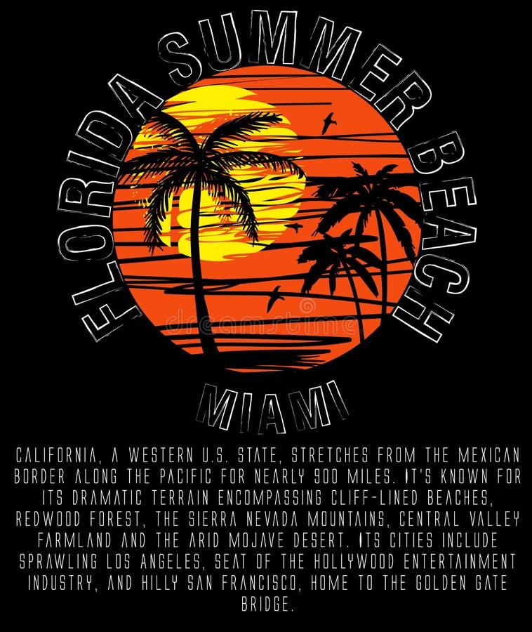 Miami Beach Florida ilustração royalty free