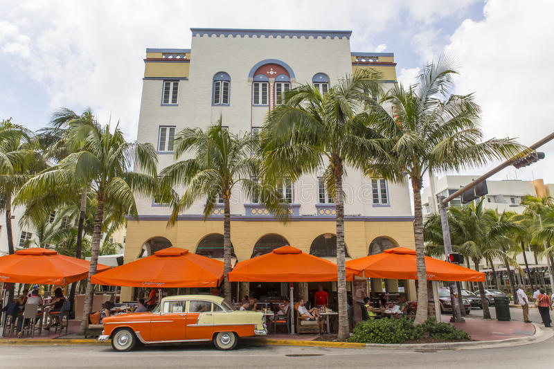Miami Beach Florida. Miami Beach is a coastal resort city in Miami-Dade County, Florida, United States. It was incorporated on March 26, 1915 stock photography