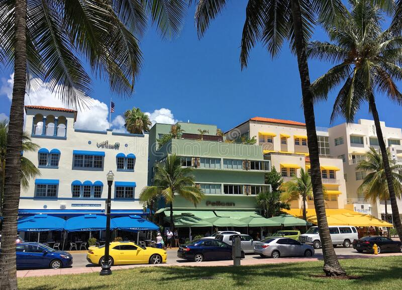 ocean drive hotels and buildings in miami beach, florida