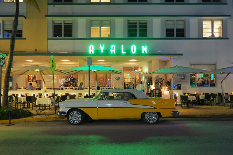 Art Deco District in Miami Beach, Florida. royalty free stock images