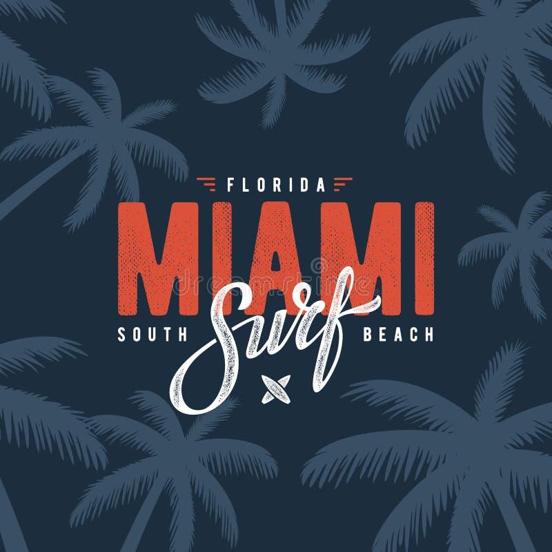 Miami surf blue stock illustration