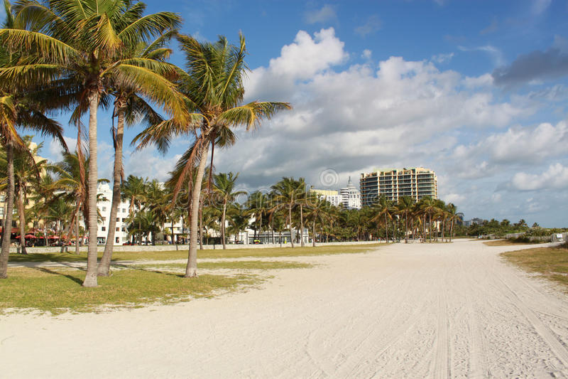 Miami Beach, Florida, USA. Quite morning in Miami Beach, Florida, USA royalty free stock images