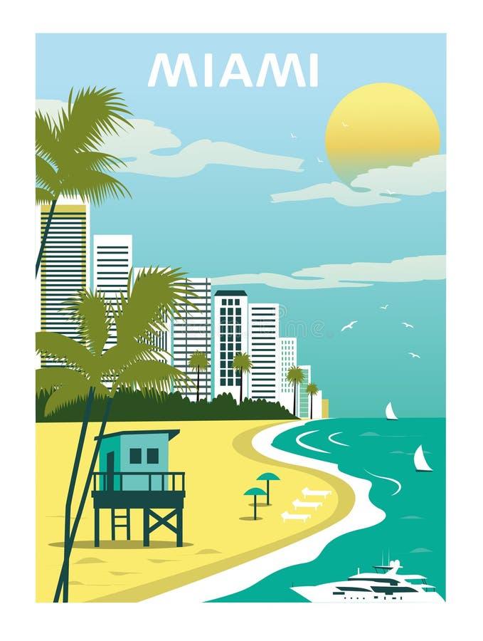 Miami Beach Florida Vecteur Illustration de Vecteur ...