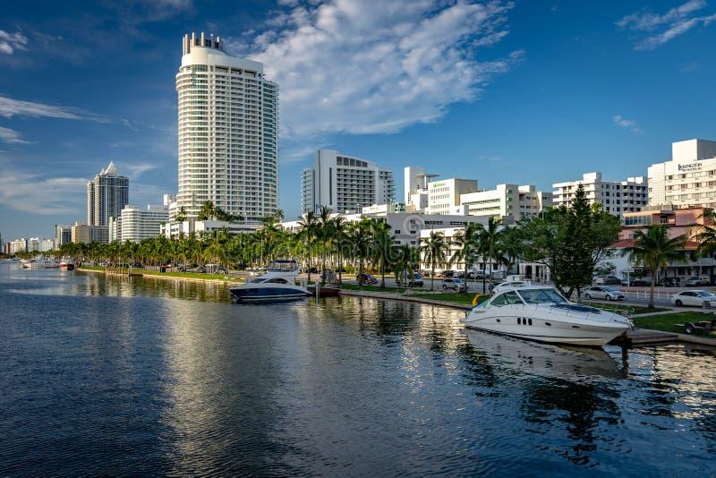 Miami Beach, Floryda, Stany Zjednoczone - okręg Mid Beach fotografia stock