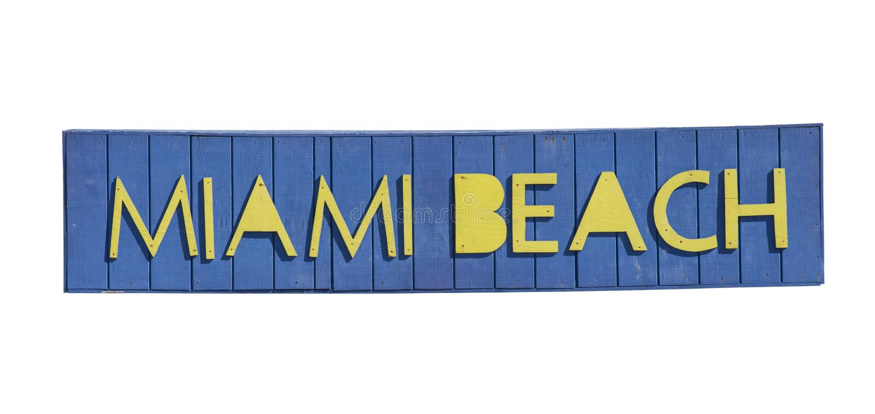 Miami Beach handstil royaltyfri bild