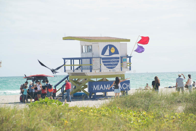 Miami Beach-Leibwächter Station lizenzfreie stockbilder