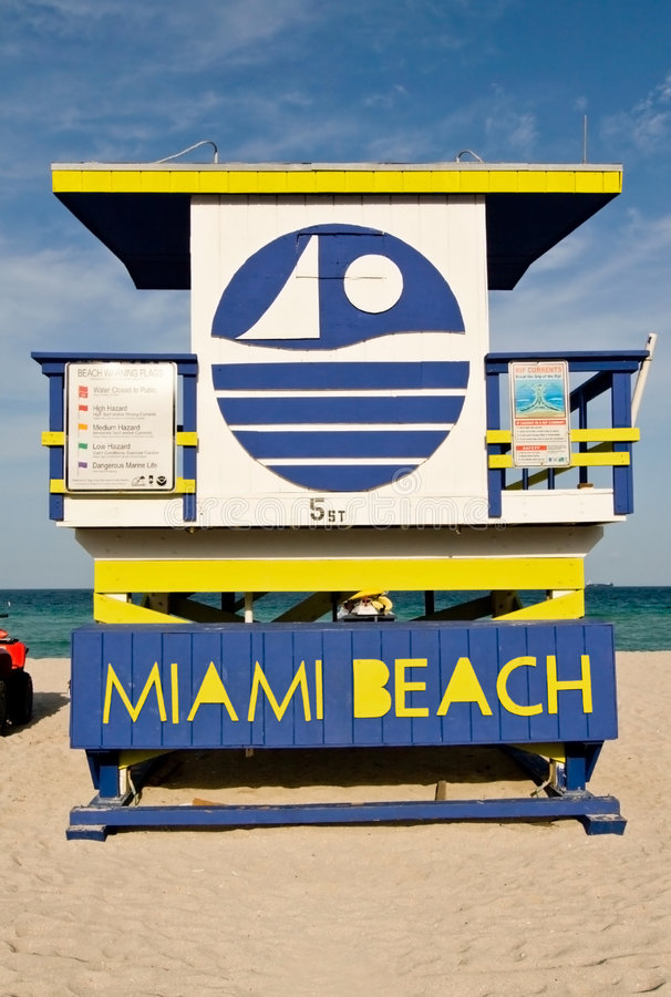 Free Miami Beach Lifeguard Chair Royalty Free Stock Photography - 7861917