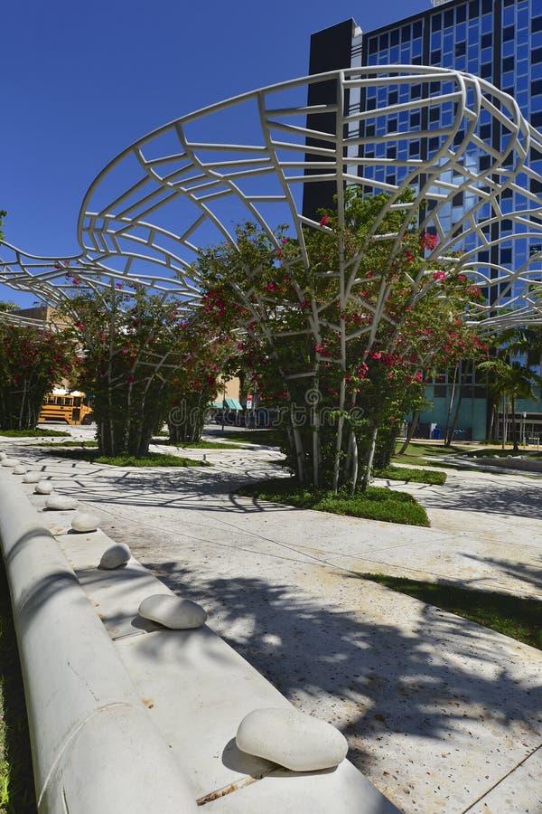 Miami Beach Lincoln Park immagini stock libere da diritti