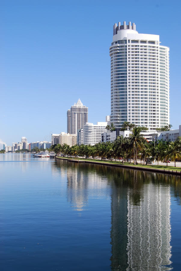 Miami Beach Luxury Condos and Hotels royalty free stock photo