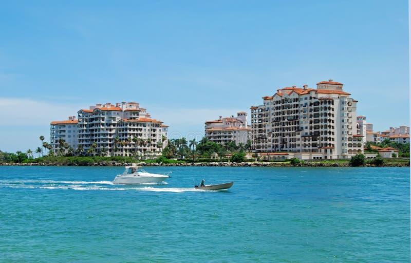 Miami Beach Luxury Island Condos royalty free stock photo
