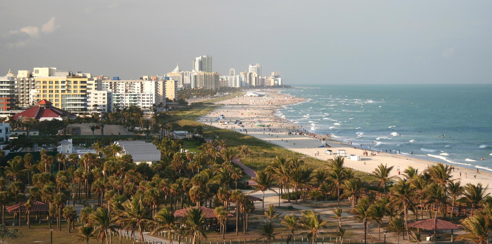 Miami Beach Panorama royalty free stock images