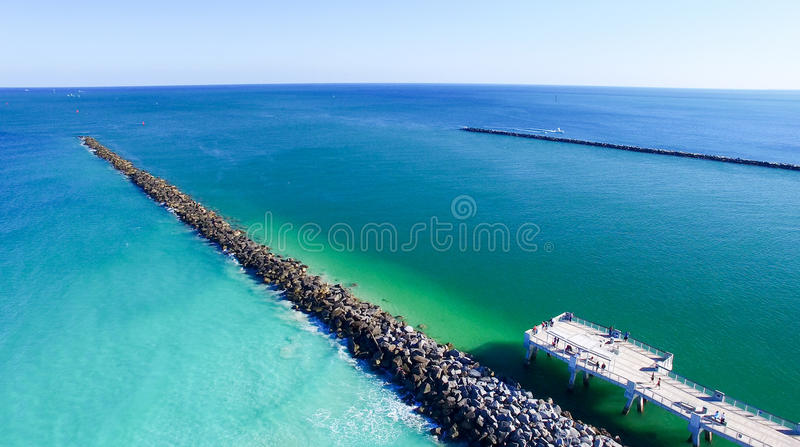 Miami Beach Pier in South Pointe royalty free stock photo