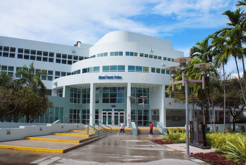 Miami Beach polisbyggnad royaltyfria bilder