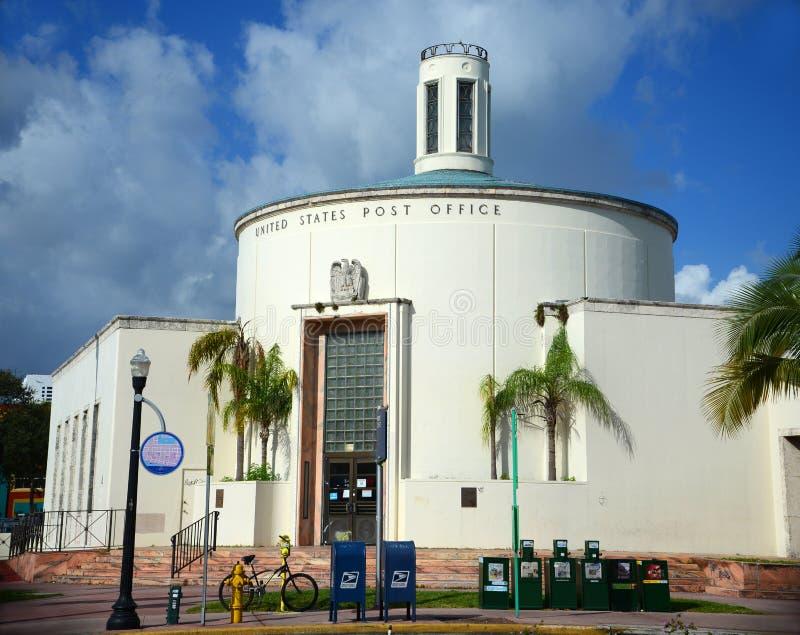 Miami Beach Post Office (33119), Miami, Florida stock image
