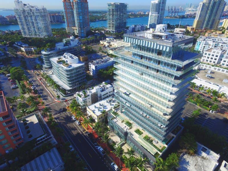 Miami Beach söder av den 5th gatan arkivbild