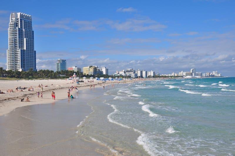 Miami Beach södra punkt Landcape fotografering för bildbyråer