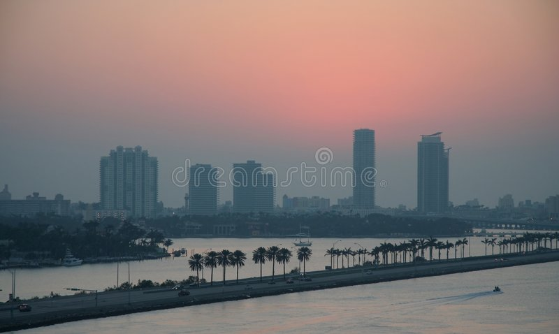 Miami Beach Sunrise stock photo