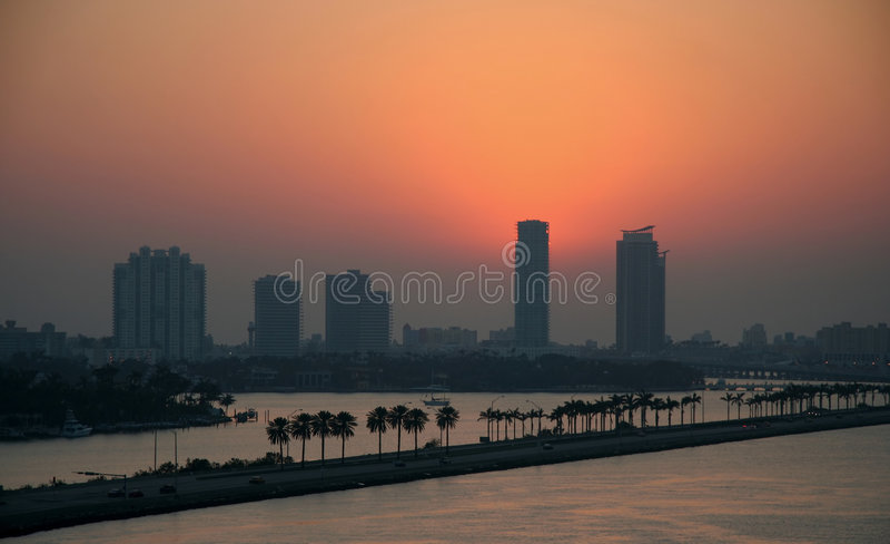 Miami Beach Sunrise royalty free stock image