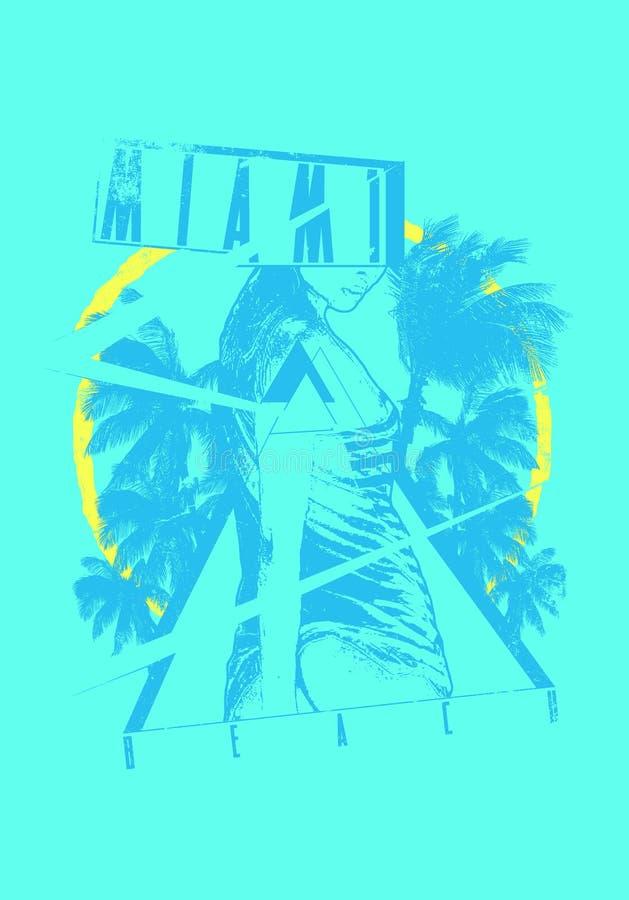 Download Miami Beach stock vector. Illustration of portrait, silhouette - 31402660